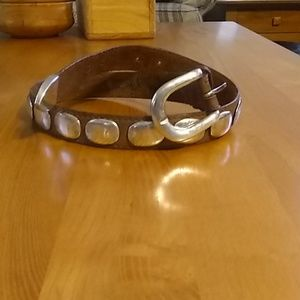 Leather & Silver Belt